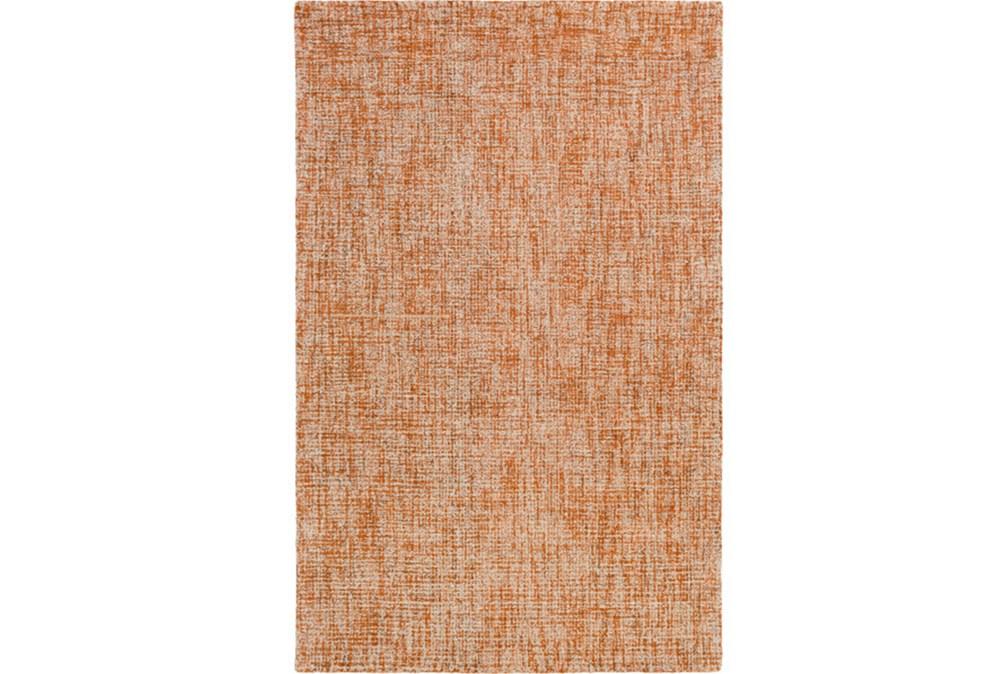 96X120 Rug-Berber Tufted Wool Orange