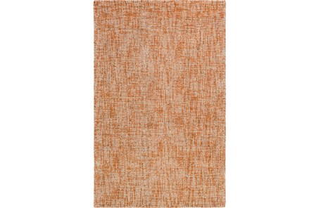 96X120 Rug-Berber Tufted Wool Orange
