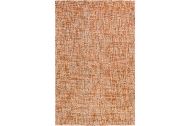 96X120 Rug-Berber Tufted Wool Orange - 360