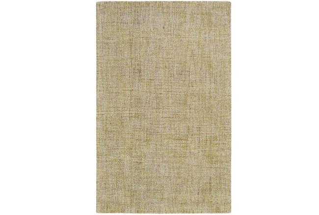 24X36 Rug-Berber Tufted Wool Olive - 360