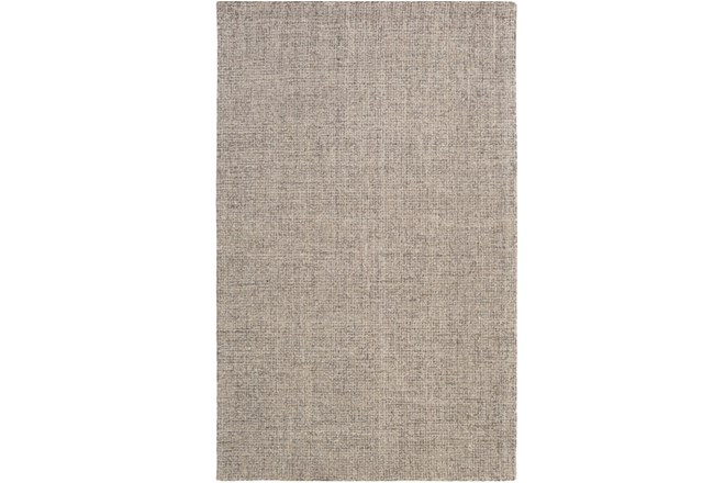 "5'x7'5"" Rug-Berber Tufted Wool Gray - 360"
