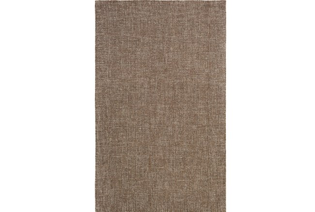 96X120 Rug-Berber Tufted Wool Brown - 360