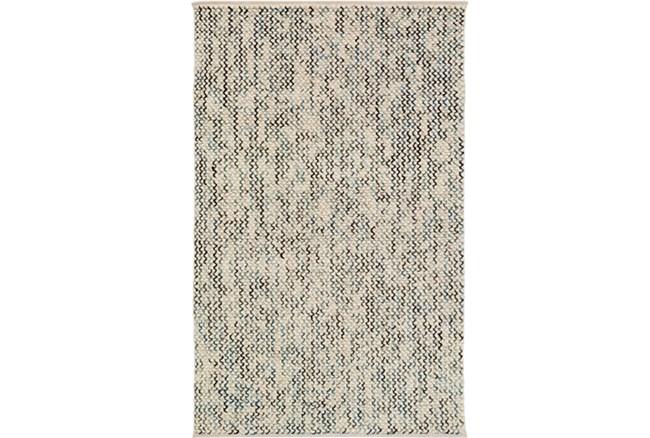 96X120 Rug-Cormac Woven Wool Blue - 360