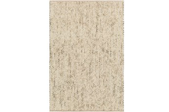 24X36 Rug-Cormac Woven Wool Taupe