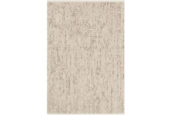 96X120 Rug-Cormac Woven Wool Taupe