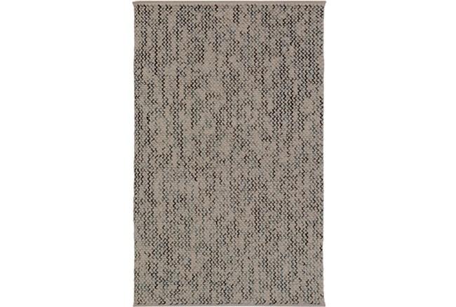 "5'x7'5"" Rug-Cormac Woven Wool Cream/Blue - 360"