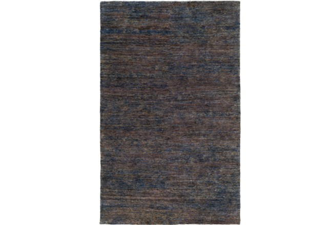 39X63 Rug-Neimon Hand Knotted Jute Navy/Brown - 360