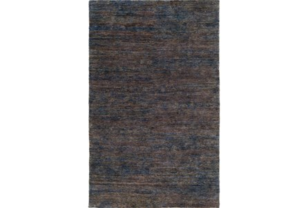 96X120 Rug-Neimon Hand Knotted Jute Navy/Brown