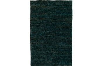 24X36 Rug-Neimon Hand Knotted Jute Dark Green