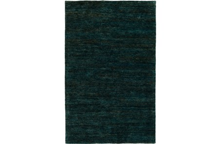 96X120 Rug-Neimon Hand Knotted Jute Dark Green - Main