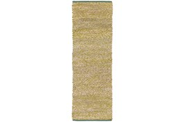 30X96 Rug-Woven Cotton And Seagrass Green