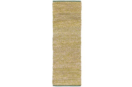 30X96 Rug-Woven Cotton And Seagrass Green - Main