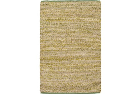 48X72 Rug-Woven Cotton And Seagrass Green