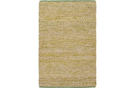 48X72 Rug-Woven Cotton And Seagrass Green - Main