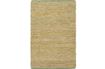 60X90 Rug-Woven Cotton And Seagrass Green