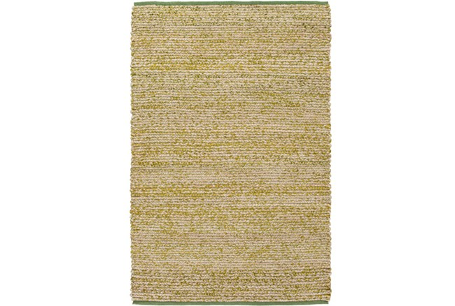96X120 Rug-Woven Cotton And Seagrass Green - 360