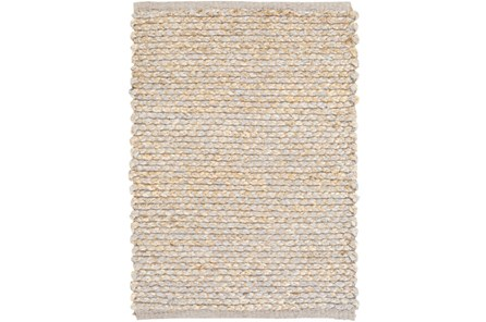 48X72 Rug-Woven Cotton And Seagrass Grey - Main