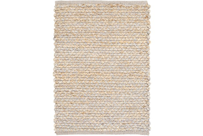 48X72 Rug-Woven Cotton And Seagrass Grey - 360