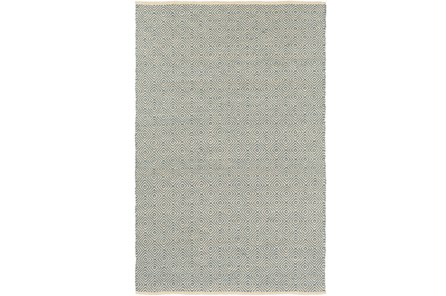 24X36 Rug-Eire Diamond Jute Aqua - Main
