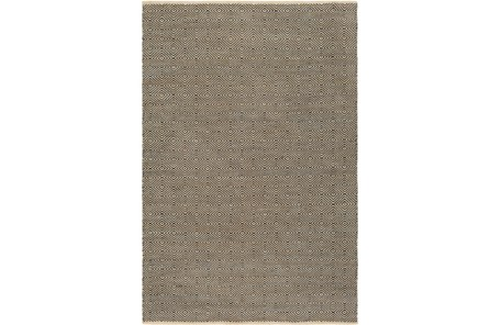 24X36 Rug-Eire Diamond Jute Black - Main