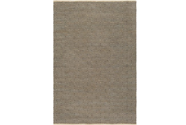 60X90 Rug-Eire Diamond Jute Black - 360