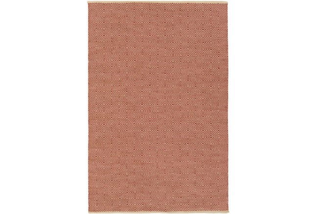 96X120 Rug-Eire Diamond Jute Rust - 360