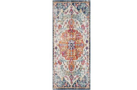 31X87 Rug-Ivete Medallion Orange/Multi