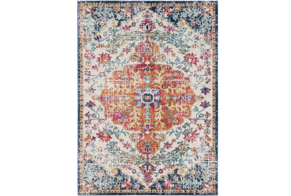47X67 Rug-Ivete Medallion Orange/Multi