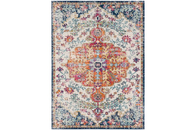47X67 Rug-Ivete Medallion Orange/Multi - 360