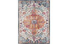 "5'3""x7'3"" Rug-Ivete Medallion Orange/Multi"