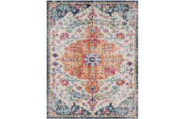 94X123 Rug-Ivete Medallion Orange/Multi