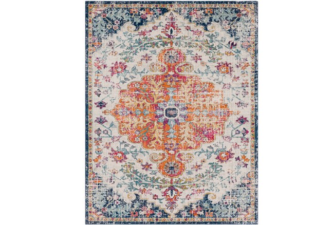 94X123 Rug-Ivete Medallion Orange/Multi - 360