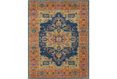 24X36 Rug-Ivete Medallion Blue/Orange