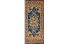 31X87 Rug-Ivete Medallion Blue/Orange