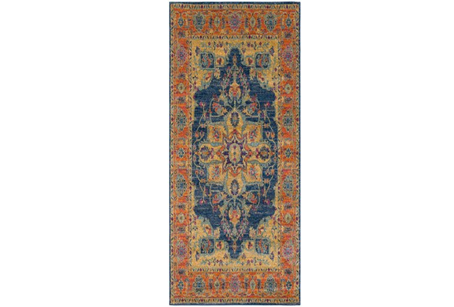 31X87 Rug-Ivete Medallion Blue/Orange - 360