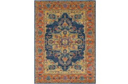 "3'9""x5'6"" Rug-Ivete Medallion Blue/Orange"