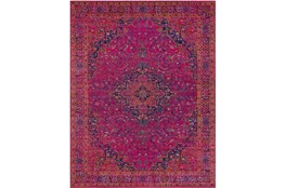 2'x3' Rug-Ivete Medallion Fuschia/Orange