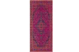 31X87 Rug-Ivete Medallion Fuschia/Orange