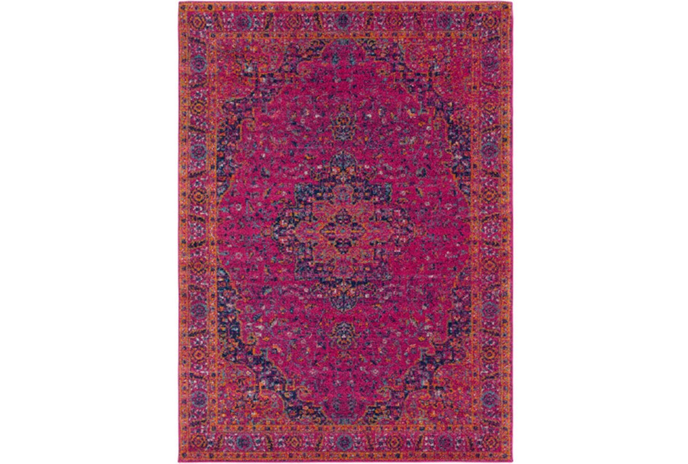 "3'9""x5'6"" Rug-Ivete Medallion Fuschia/Orange"