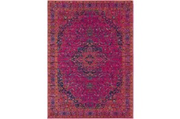 47X67 Rug-Ivete Medallion Fuschia/Orange