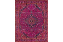 94X123 Rug-Ivete Medallion Fuschia/Orange