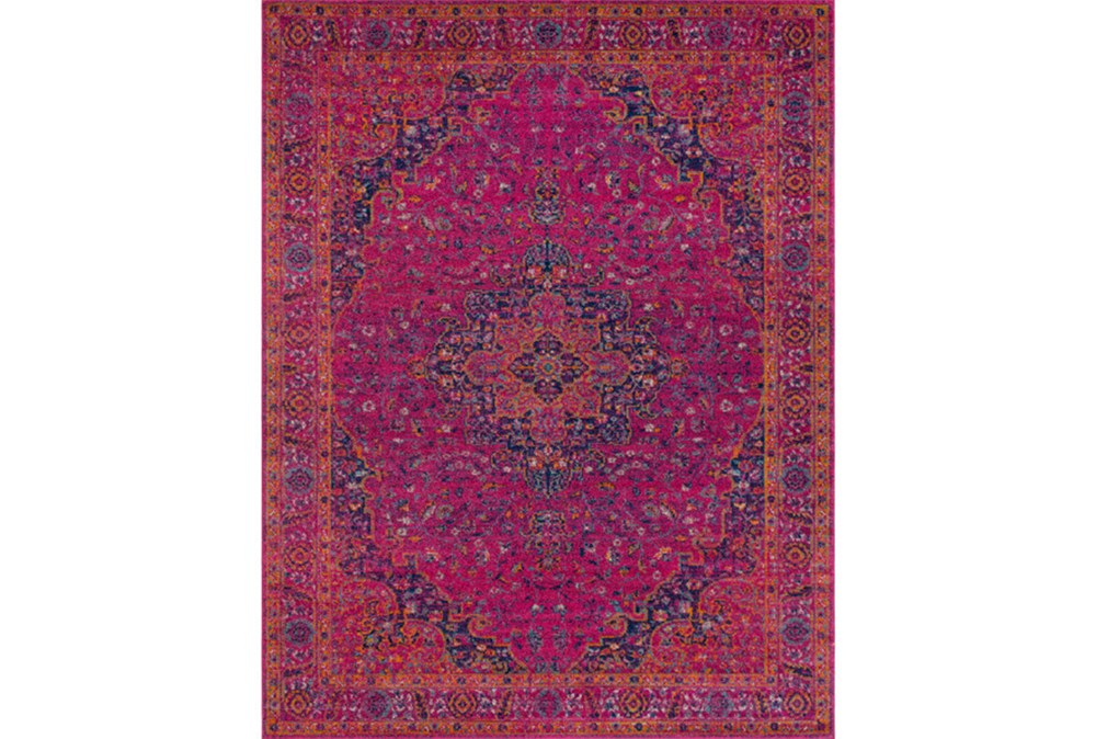 111X150 Rug-Ivete Medallion Fuschia/Orange