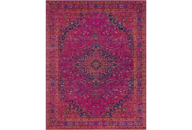 111X150 Rug-Ivete Medallion Fuschia/Orange - 360