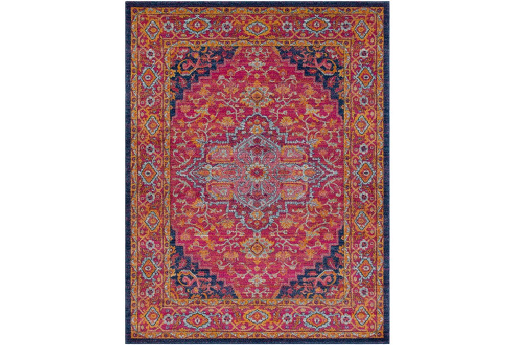 2'x3' Rug-Ivete Medallion Garnet/Orange