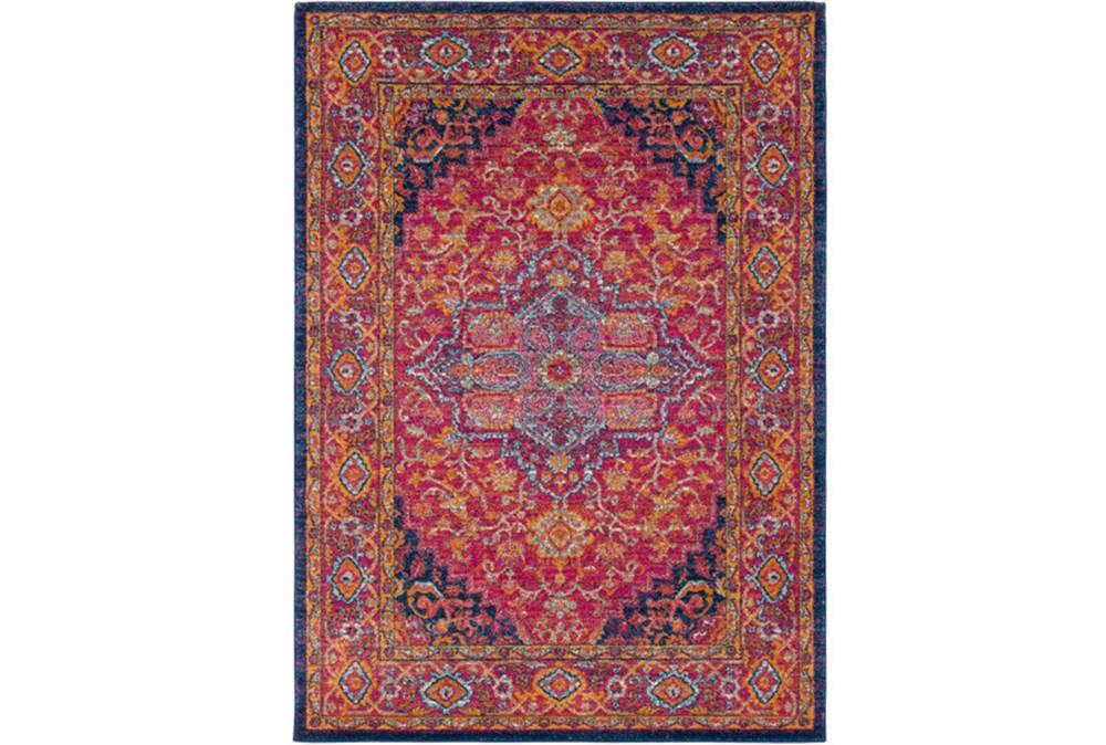 63X87 Rug-Ivete Medallion Garnet/Orange