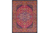 94X123 Rug-Ivete Medallion Garnet/Orange - Signature