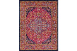 94X123 Rug-Ivete Medallion Garnet/Orange