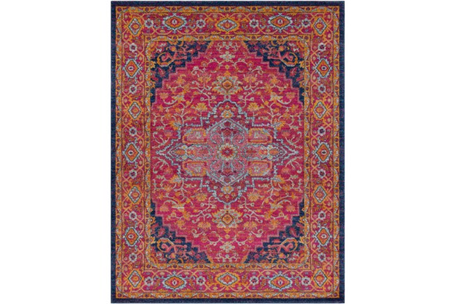 94X123 Rug-Ivete Medallion Garnet/Orange - 360