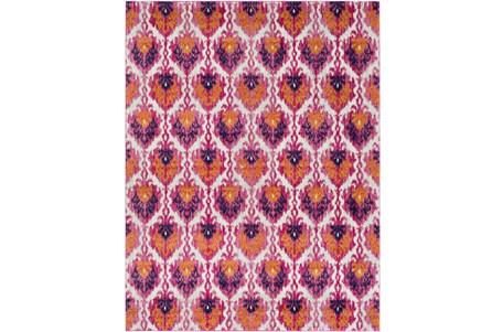 31X87 Rug-Ivete Ikat Garnet/Orange