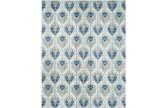 111X150 Rug-Ivete Ikat Teal/Grey - Signature